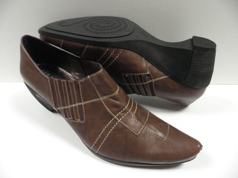 shoes GEO REINO bienal brown FEMME size 40 cuir shoes brown woman NEUF