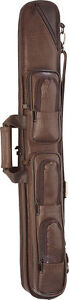 New-Lucasi-LC4-2x4-Brown-Leatherette-Case-Pool-Cue-Case-Holds-2-Cues