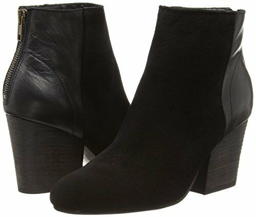 H By Hudson Suede Leather Heeled Black Meli Zip Pointed Ankle Boots 3 to 7 New