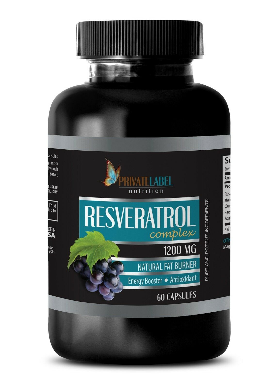 Resveratrol Supplement Pure Resveratrol 1200mg 1 Bottle Energy Vitamin For Sale Online