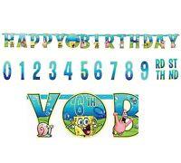 Sponge-bob Square Pant 10ft Jumbo Letter Birthday Banner Custom Age Party Supply