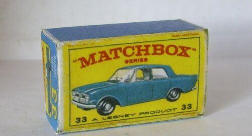 Repro box Matchbox 1:75 nº 33 Ford Zephyr