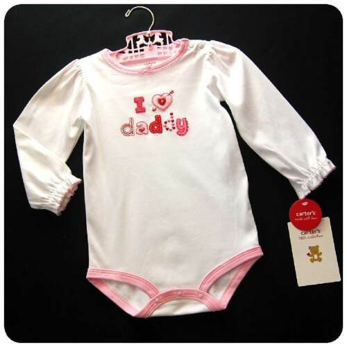 24 MONTH New NWT CARTERS~GIRLS~BODYSUIT ONE-PIECE FATHERS DAY PINK RED WHITE 18