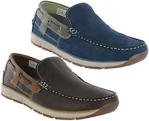 Roamers-moccasin-chaussures-bateau-en-cuir-double-leger-a-enfiler-loisirs-homme