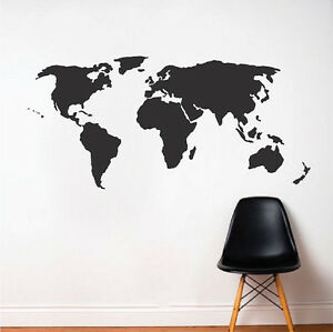 World wall decal atlas wall vinyl world map wall sticker large image is loading world wall decal atlas wall vinyl world map gumiabroncs Choice Image