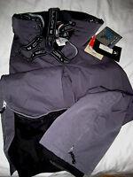 Couloir Gun Metal Gray Multi Logo Suspender Insulated Ski Snowboard Pants-nwt-32