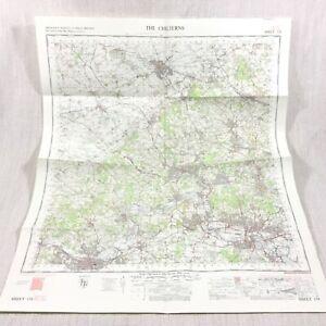 1969 Vintage Militare Mappa Di Il Chilterns Henley Su Thames Windsor Marlow