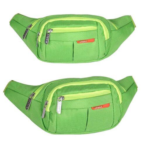Damen Herren Wasserfest Bauchtasche Leinwand Hüfttasche 4 Fächer Gürteltasche M