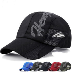 Cool Cap Mesh Gorras Summer Baseball Hats Women Hat Men Hip Caps Sun ... a340e6265ed