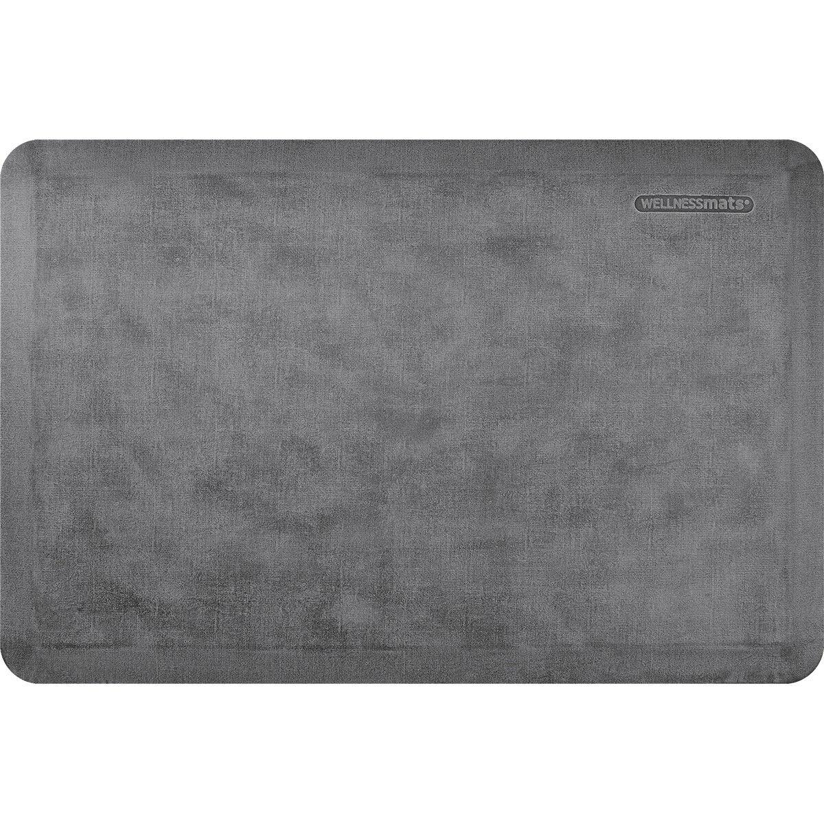 WellnessMats Estates Linen Anti-Fatigue Mat, Slate, 36  by 24