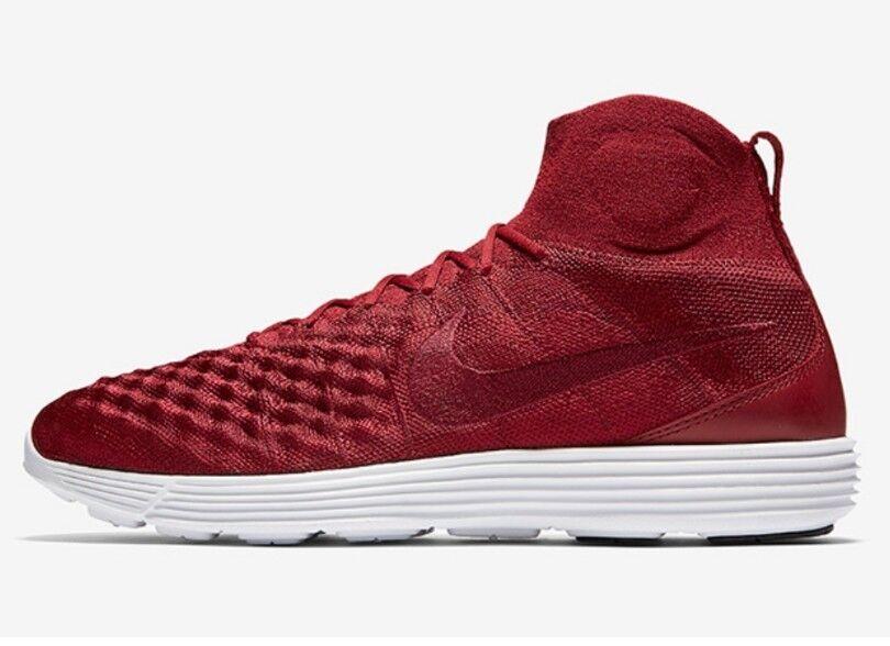 Nike Lunar Magista 11 FK II équipe Rouge Homme Baskets Taille 10 Haut Entièrement neuf dans sa boîte Top 85261460-
