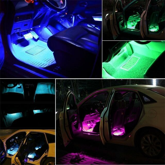 Sound Active Car Multi Color Led Strip Light Music Interior Lights Underbody