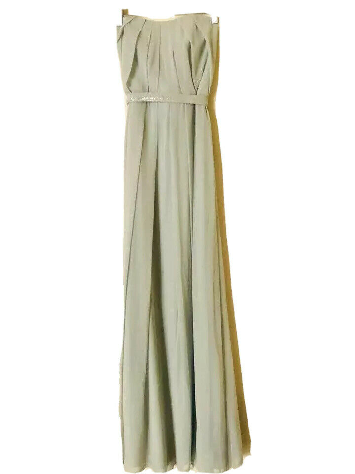 Dessy Collection Strapless Gown Style 2886 Cela Sz 0 Bridesmaid Prom Dress Mint