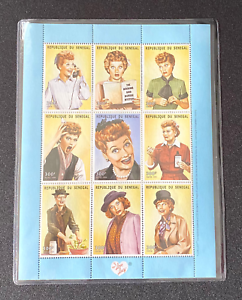MINT-I-Love-Lucy-Stamps-034-Classic-Lucy-034-LE-Commemorative-Sheet-Issue-Senegal