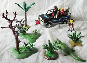 PLAYMOBIL Schönes Set zum Thema Safari mit Jeep Playmobil Abenteuer aus Sammlung