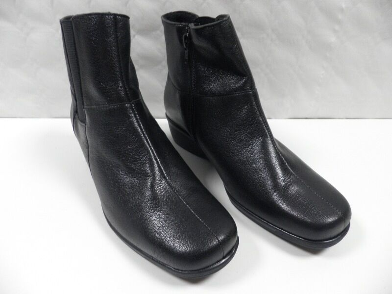 Bottines OMBELLE Sorbier noir FEMME taille 38,5 boots woman cuir leather NEUF