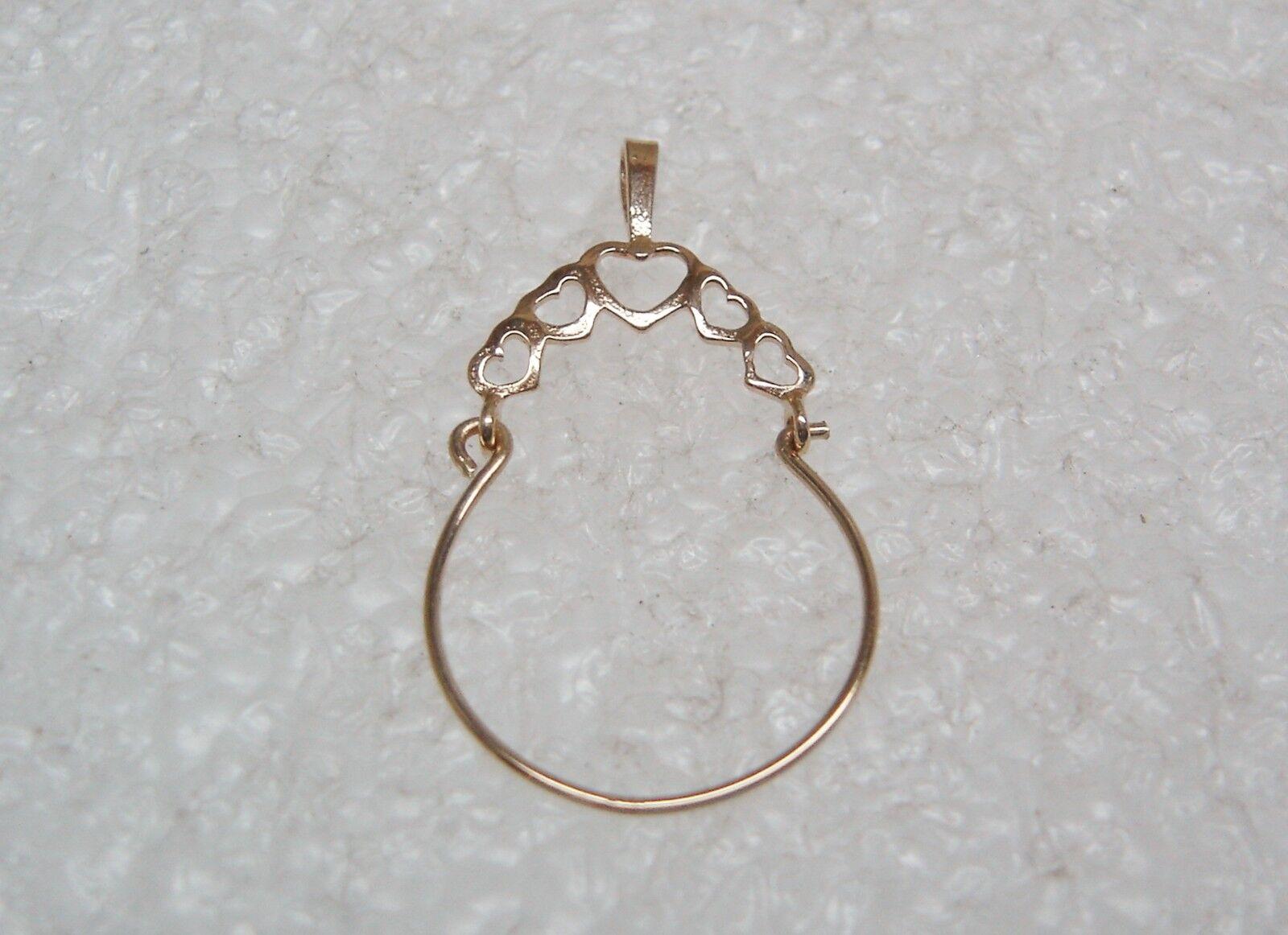 14k oro Giallo Multiplo Ciondolo a Cuore Supporto Ciondolo Ciondolo Ciondolo N406-h b7cad5