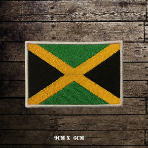 JAMAICA-Flag-Embroidered-Iron-On-Sew-On-Patch-Badge-For-Clothes-Etc