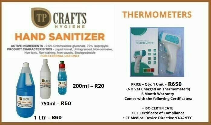 THERMOMETER AND SANITIZER (ON SPECIAL)