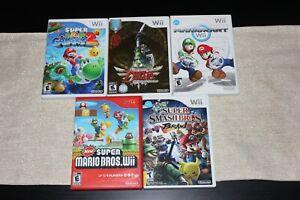 Excellent-Nintendo-Wii-Games-Mario-Zelda-Complete-amp-Tested-Pick-n-039-Buy