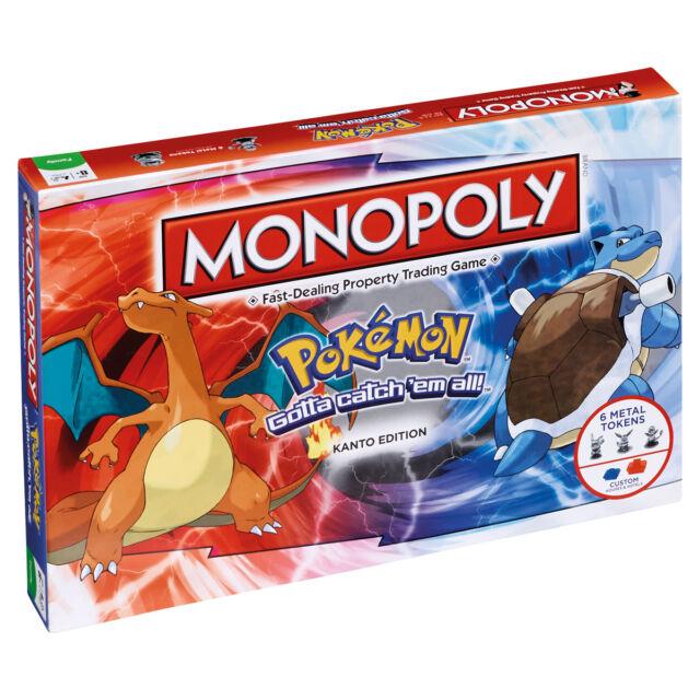 POKEMON KANTO EDITION MONOPOLY BOARD GAME BRAND NEW