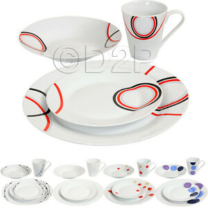 16PC-DINNER-SET-BOWL-PLATE-MUG-SOUP-SIDE-PORCELAIN-CUP-GIFT-KITCHEN-SERVICE-NEW