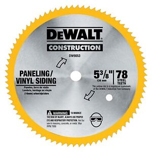 Dewalt-DW9053-5-3-8-034-x-80-Tooth-Paneling-and-Vinyl-Cutting-Steel-Saw-Blade