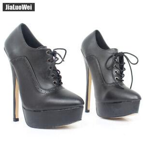 Details about  /Womens Round Toe High Heel Platform Stiletto Slip On Pumps Dress Business Shoes