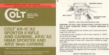 Colt 1985 AR-15 A2 Sporter II, HBAR & 9mm Rifle & Carbine Manual
