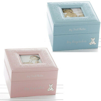 BABY BOY GIRL KEEPSAKE & PHOTO BOX CHRISTENING GIFT PICTURE FRAME NEW MEMORY