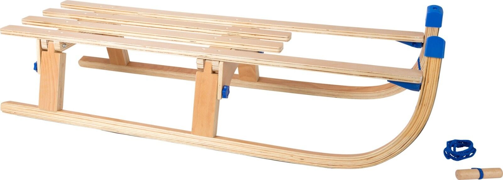 Klappschlitten Schlitten Holz ca. 109 x 32 x 23 cm Sitzhöhe 20 cm