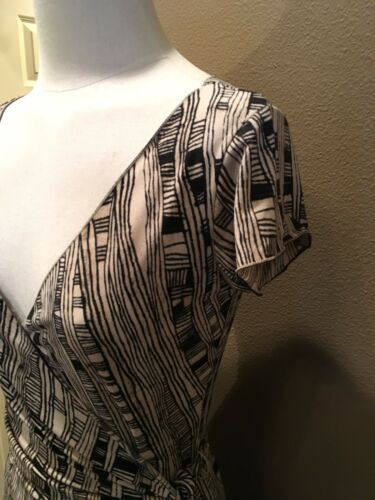 True Nero Molto M Print Dress Studio Geo Sleeves Usa Cap Wrap bello Tan XqfwPE6P