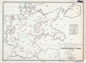 German Concentration Camps 1944 CIA declassified map World War 2