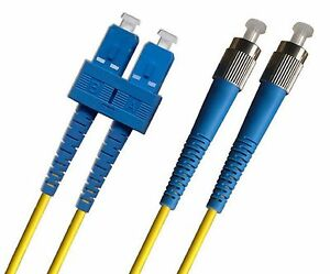 Optisch-Glasfaser-Kabel-Einzelmodus-Duplex-OS2-9-125-FC-Zu-Sc-Verbinder-Gelb-2m