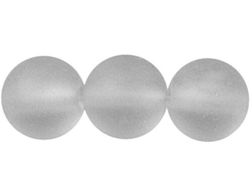 GLAS PERLEN  MATT  FROSTY RUND  4-6-8-10-12 mm viele FARBEN  SCHMUCK ZUBEHÖR//801