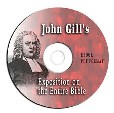 JOHN GILLS EXPOSITION ON ENTIRE BIBLE-Christian Study Commentary-on CD eBook PDF