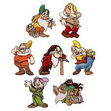 Set of 7: The Seven Dwarfs Disney's Snow White Cartoon Iron-On Applique Patches