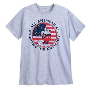 Men S Size 3xl Or 4xl Mickey Mouse Americana Grey Tee Shirt Disney