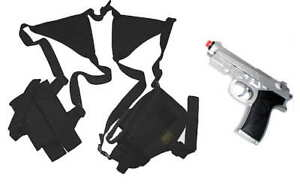 SWAT-Style-Shoulder-Holster-w-2-Pouchs-TG208BA-3-FREE-AIRSOFT-PISTOL