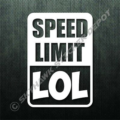 Speed Limit LOL Funny Bumper Sticker Vinyl Decal Sport Car JDM Sticker For BMW