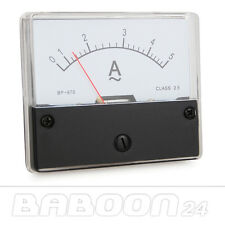Messinstrument 0 - 5 A AC zum Einbau, Analog Amperemeter mit Shunt