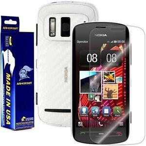 ArmorSuit-MilitaryShield-Nokia-808-PureView-Screen-White-Carbon-Fiber-Skin
