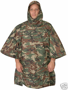 Rain-Poncho-GI-Spec-Woodland-Camo-Nylon-Ripstop-With-Carry-Bag-by-5-Star-Gear