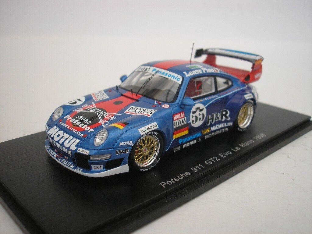Porsche 911 GT2 Evo  55 Le Mans Mans Mans 1996 J-P. Jarier 1 43 Spark S5513 Nuevo e2a964