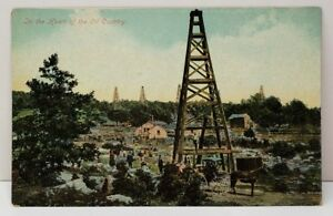 The-Heart-of-Oil-Country-c1910-Vintage-Postcard-C1