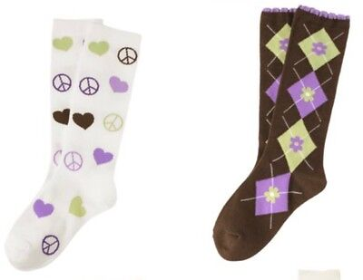 GYMBOREE~COWGIRLS AT HEART PEACE SOCKS~3 4~NWT