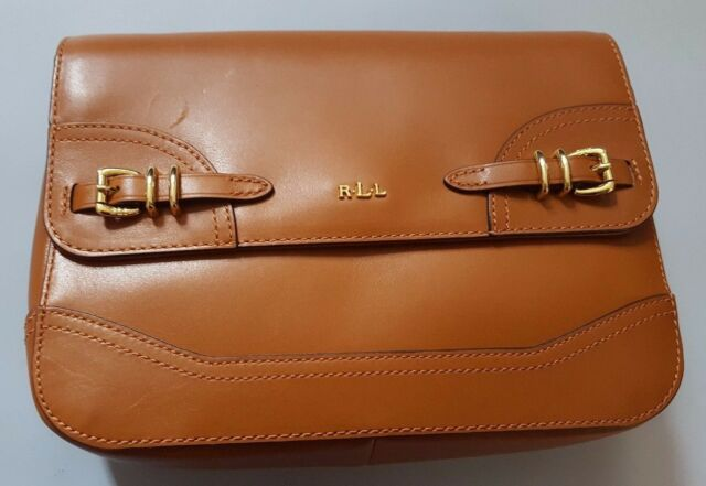 a47fca4354 Lauren Ralph Lauren Cream Leather Messenger Crossbody Bag
