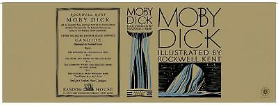 Alarm Facsimile Dust Jacket Only Herman Melville Moby Dick Rockwell Kent 1930 1st Ed