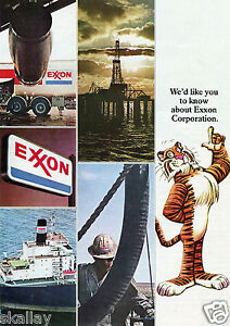 1973-4-Page-Centerfold-Print-Ad-of-Exxon-Corp-Tiger-Gas-amp-Oil