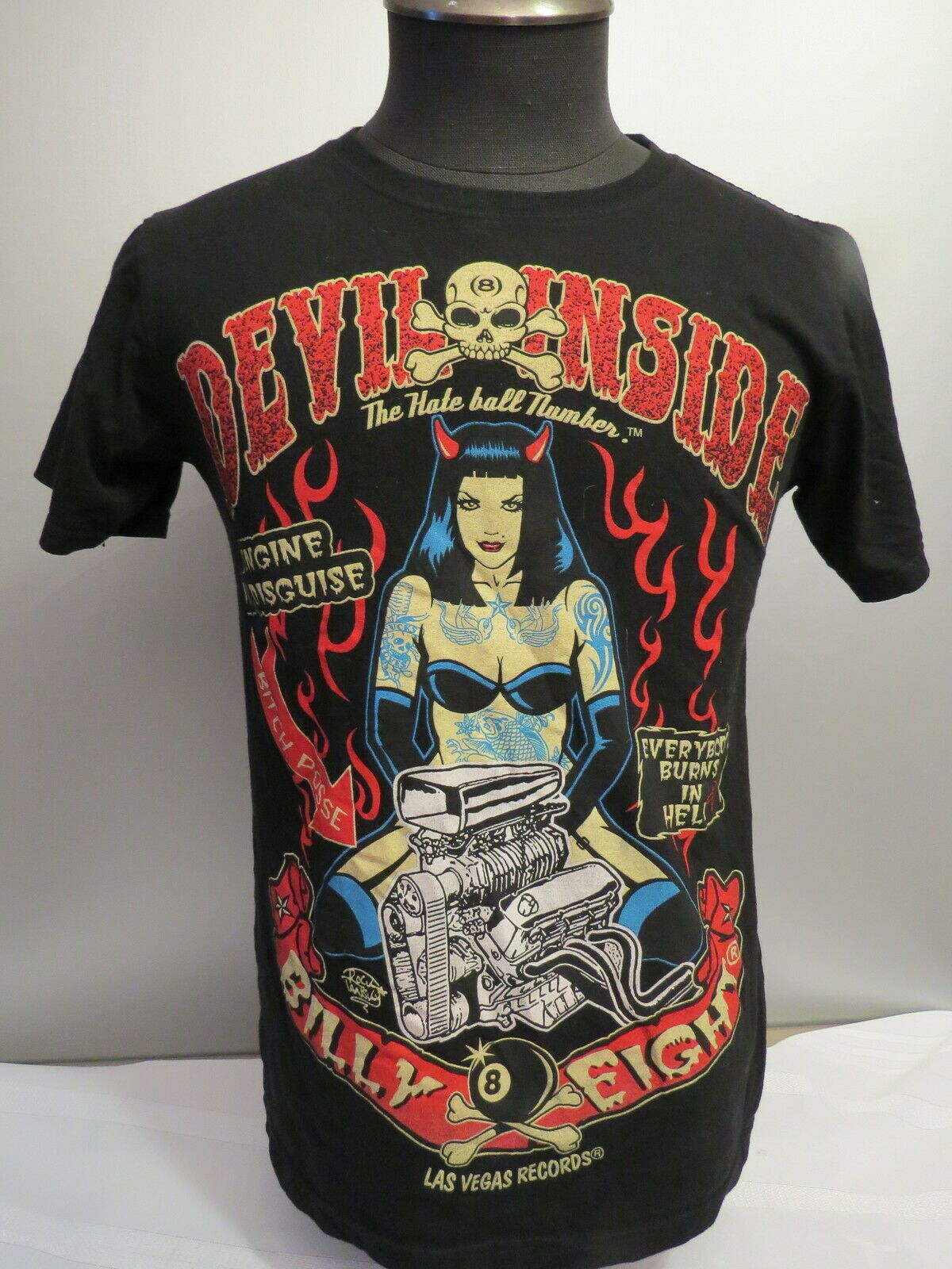 Billy Eight Shirt - Evil Inside Graphic - Men's Small